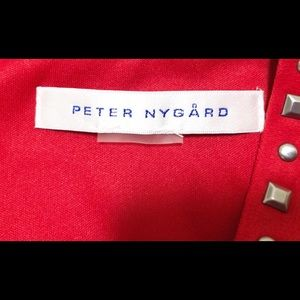 Peter Nygard Dresses - Peter Nygard Red Stud Embellished Dress